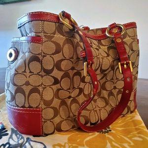 Large coach bucket purse